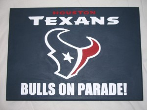 Texans plaque