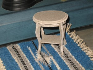 Table on rug