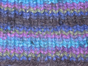 Multicolor hat stitches