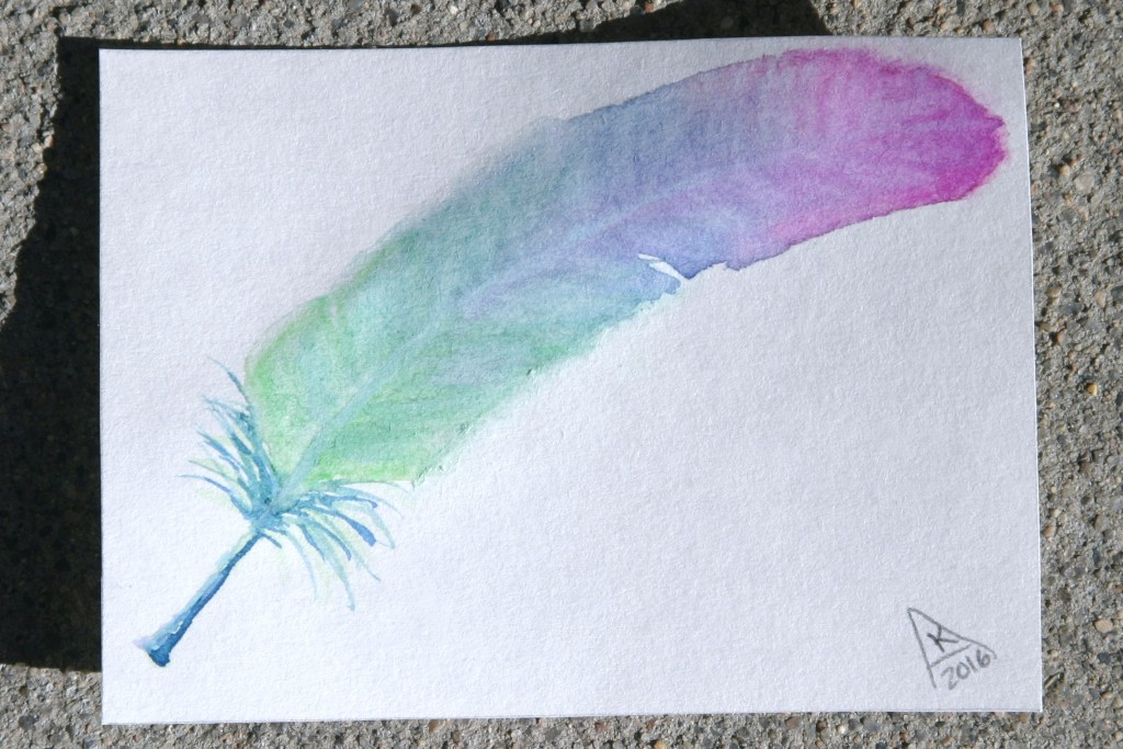dailyATC5 feather