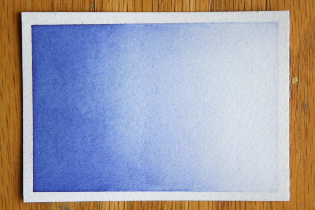 DailyATC7 watercolor gradient